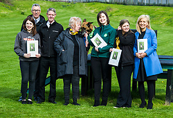 Pictured: Jennifer Terris (Yellow lanyard), Dogs Trust, Sarah Moyes, Onekind, Lindsay Fyffe (green top), Edinburgh Dog and  Cat Home, Christine Grahame, Sasha, Kirsteen Campbell, Chief Executive Scottish SCPA (Blue coat), Dick Morrison Kennel Club and Scottish Kennel Club and Mike Flynn Chief Superintendent SSPCA (glasses)<br /> <br /> SNP MSP Christine Grahame was joined at Edinburgh Cat and Dog home by animal welfare organisations and eight-year-old Dutch Shepherd Sasha to highlight her members bill to curb irresponsible dog breeding and buying. <br /> Ger Harley | EEm 4 May 2018