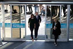 © Licensed to London News Pictures. 07/10/2012. Birmingham, UK . Samantha and David Cameron arrive at the convention centre . Conservative Party Conference Day 1 at The International Convention Centre . Photo credit : Joel Goodman/LNP