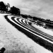 Theis Park in Kansas City near Brush Creek after frequent snow.