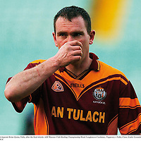 2 December 2007; A dejected Brian Quinn, Tulla, after the final whistle. AIB Munster Club Hurling Championship Final, Loughmore-Castleiney, Tipperary v Tulla, Clare, Gaelic Grounds, Limerick. Picture credit; Brendan Moran / SPORTSFILE