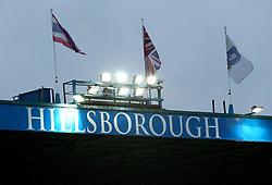 Rain falls at Hillsborough - Mandatory by-line: Robbie Stephenson/JMP - 08/08/2017 - FOOTBALL - Hillsborough - Sheffield, England - Sheffield Wednesday v Chesterfield - Carabao Cup