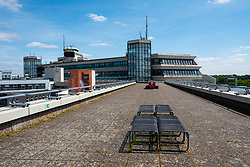 View of Terminal building observation platform  at Tegel Airport in Berlin, Germany