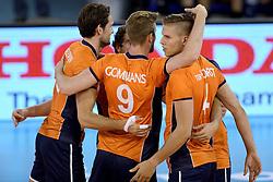 01-06-2014 NED: WLV Nederland - Zuid Korea, Eindhoven <br /> Thomas Koelewijn, Ewoud Gommans, Thijs ter Horst