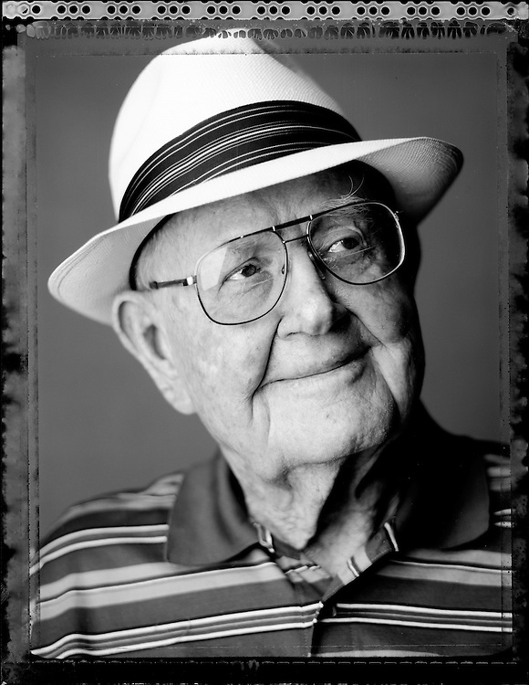 Byron Nelson, photographed at Fairway Ranch, his home in Roanoke, Texas.