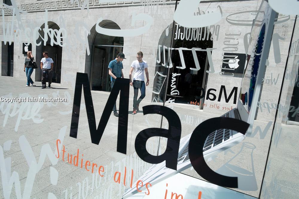 Exterior of new flagship Apple store on Kurfurstendamm in Berlin Germany