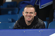 Wayne Rooney  looks on from the directors box.  Barclays Premier league match, Everton v Crystal Palace at Goodison Park in Liverpool, Merseyside on Monday 7th December 2015.<br /> pic by Chris Stading, Andrew Orchard sports photography.