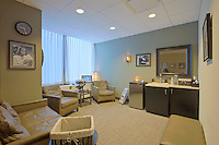 Washington DC Interior Photographers image of patient waiting room at Offices of Washington Eye after construction and remodeling by contractor Coakley Williams Construction of Gaithersburg