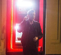 Director Danny Boyle, Ewan McGregor and Jonny Lee Miller filming Trainspotting on Queen Street, Glasgow on the night of 20th June 2016.
