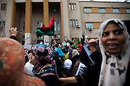 Women protesters  in Banghazi on Feb. 25, 2011.