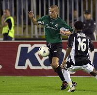 23.08.2005 Belgrade(Serbia)<br />Partizan-Artmedia second match in Third Round Qualifying for Champions League<br />Tchur Daniel(L) Artmedia  <br />Foto:Aleksandar Djorovic