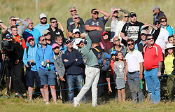 Northern Ireland's Rory McIlroy in the rough on the seventeenth during day one of the Dubai Duty Free Irish Open at Ballyliffin Golf Club.