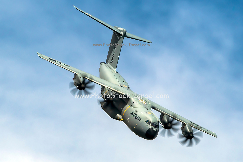 Airbus A400M Atlas is a European, four-engine turboprop military transport aircraft. It was designed by Airbus Military (now Airbus Defence and Space) as a tactical airlifter with strategic capabilities. Photographed at Royal International Air Tattoo (RIAT)