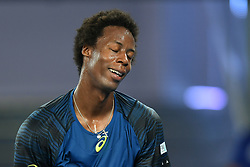 January 23, 2017 - Melbourne, Australia - GAEL MONFILS of France in action in a 4th round match against Rafael Nadal of Spain on day eight of the 2017 Australian Open Grand Slam tennis tournament. (Credit Image: © Sydney Low/CSM via ZUMA Wire)