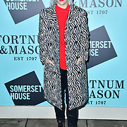 Pips Taylor arrivers Skate at Somerset House with Fortnum & Mason Launch party, London, Somerset House, 12 November 2019, London, UK.