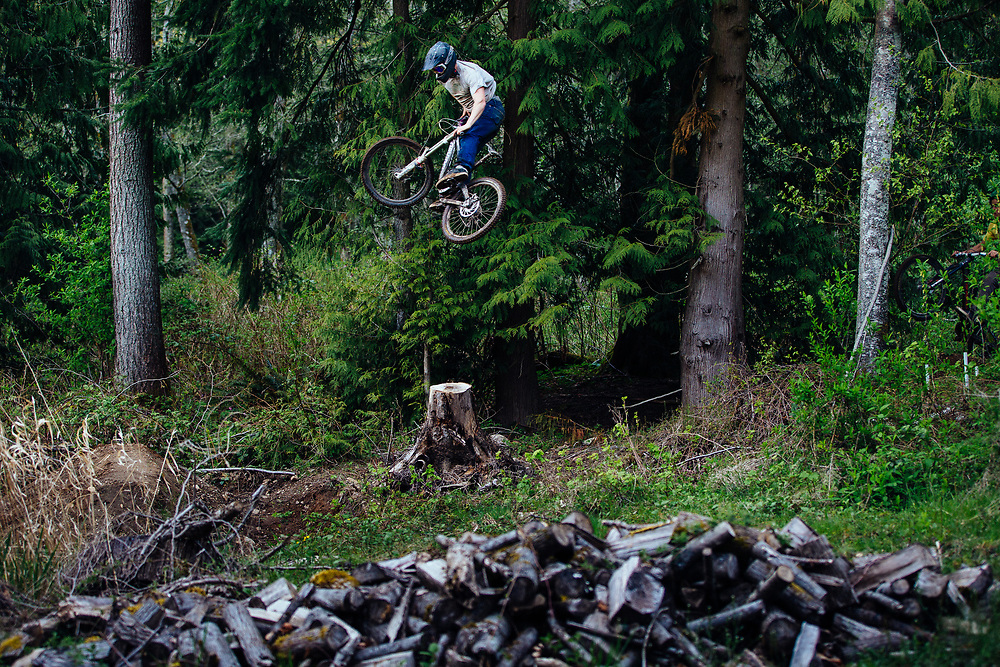 Owen Dudley launches a backyard air in Bellingham.