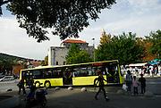 Public transport bus, outside Diocletian Palace, Split, Croatia