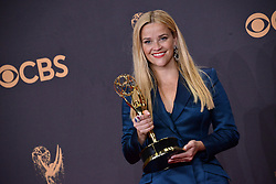 Actor Reese Witherspoon, winner of Outstanding Limited Series for 'Big Little Lies', poses in the press room during the 69th Annual Primetime Emmy Awards held at the Microsoft Theater on September 17, 2017 in Los Angeles, CA, USA (Photo by Sthanlee B. Mirador/Sipa USA)