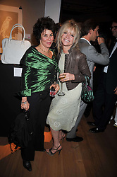 Left to right, RUBY WAX and JO WOOD at fundraising dinner and auction in aid of Liver Good Life a charity for people with Hepatitis held at Christies, King Street, London on 16th September 2009.