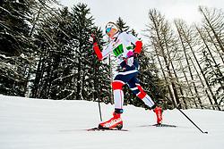 February 3, 2018 - Goms, SWITZERLAND - 180203 Hedda ¯stberg Amundsen of Norway competes in the women's 4x3,3 km relay during the FIS Nordic Junior World Ski Championships on February 3, 2018 in Obergoms..Photo: Vegard Wivestad GrÂ¿tt / BILDBYRN / kod VG / 170098 (Credit Image: © Vegard Wivestad Gr¯Tt/Bildbyran via ZUMA Press)