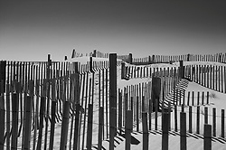 graphic detail of beach fencing in Westhampton, NY