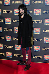 © Licensed to London News Pictures. 12/10/2012. London, UK.  Kasabian guitarist Sergio Pizzorno at the cinema premiere of Celebration Day, the recording of their 2007 live show held at the O2 Arena, screened at the Hammersmith Apollo.  Photo credit : Richard Isaac/LNP