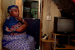 May 2, 2020, Alexandra, Johannesburg, South Africa: Sheilah is a traditional healer. ''The cure for coronavirus is in the herbs of our land,'' she claims. (Credit Image: © Manash Das/ZUMA Wire)