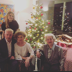 """Boris Becker releases a photo on Twitter with the following caption: """"""""Frohe Weihnachtstage! #elvira #sabine #carla #me ( Vincent hat Foto gemacht)"""""""". Photo Credit: Twitter *** No USA Distribution *** For Editorial Use Only *** Not to be Published in Books or Photo Books ***  Please note: Fees charged by the agency are for the agency's services only, and do not, nor are they intended to, convey to the user any ownership of Copyright or License in the material. The agency does not claim any ownership including but not limited to Copyright or License in the attached material. By publishing this material you expressly agree to indemnify and to hold the agency and its directors, shareholders and employees harmless from any loss, claims, damages, demands, expenses (including legal fees), or any causes of action or allegation against the agency arising out of or connected in any way with publication of the material."""