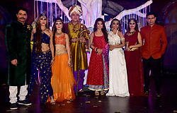 November 21, 2018 - Mumbai, India - (L-R) Actors Shakti Anand, Shilpa Saklani, Lavina Tandon, Vikrant Chaturvadey, Adaa Khan, Soni Singh, Falak Naaz and Sandeep Baswana are seen posing for a photo during the COLORS channel mystical saga 'Sitaara' show launch at the hotel JW Marriott, Juhu in Mumbai. (Credit Image: © Azhar Khan/SOPA Images via ZUMA Wire)