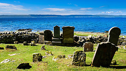 A tiny old graveyard on the west coast of Arran, Scotland<br /> <br /> (c) Andrew Wilson   Edinburgh Elite media