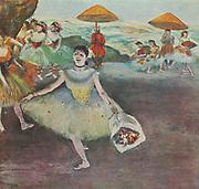 Edgar Degas: La danseuse sur la scene - Dancer on stage,1878 Pastel and gouache