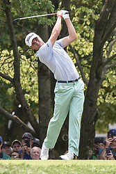 August 12, 2018 - Town And Country, Missouri, U.S - JUSTIN THOMAS from Goshen Kentucky, USA tees off on hole two during round four of the 100th PGA Championship on Sunday, August 12, 2018, held at Bellerive Country Club in Town and Country, MO (Photo credit Richard Ulreich / ZUMA Press) (Credit Image: © Richard Ulreich via ZUMA Wire)
