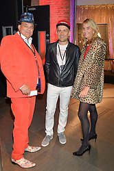 Left to right, GERRY FOX, MARC QUINN and JOSIE FOX at a Night of Disco in aid of Save The Children held at The Roundhouse, Chalk Farm Road, London on 5th March 2015.