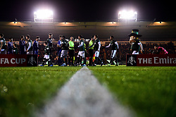 Bristol Rovers and Plymouth Argyle enter the pitch prior to kick off - Mandatory by-line: Ryan Hiscott/JMP - 17/12/2019 - FOOTBALL - Home Park - Plymouth, England - Plymouth Argyle v Bristol Rovers - Emirates FA Cup second round replay