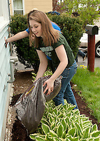 Laconia High School National Honor Society students participate in their annual Spring clean up day around the city of Laconia May 12, 2011.