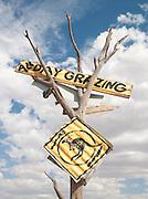 Restaurant sign in the Flinders Ranges, South Australia, Australia