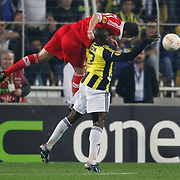 Fenerbahce's Moussa Sow (R) during their UEFA Europa League Semi Final first match Fenerbahce between Benfica at Sukru Saracaoglu stadium in Istanbul Turkey on Thursday 25 April 2013. Photo by Aykut AKICI/TURKPIX