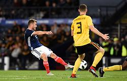 Scotland's Ryan Fraser has a shot on goal during the International Friendly at Hampden Park, Glasgow.