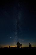 The Milky Way from Lake Michigan, MI, USA