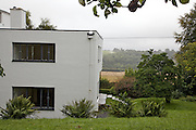 Rear view exterior of Warren House, Wayne McGregor's Dartington Estate home in Devon<br /> Vanessa Berberian for The Wall Street Journal