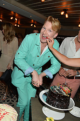 HENRY CONWAY at Henry Conway's 31st birthday party held at the Pont St Restaurant, Belgraves Hotel, London on 12th July 2014.