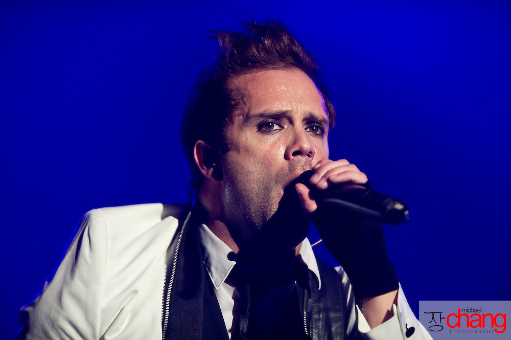 March 4 2012: Skillet performs at Winter Jam at the Mitchell Center in Mobile, AL.