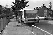 Nederland, Nijmegen, 15-9-1979Voor een school staat de wagen van de schooltandarts. Foto: Flip Franssen/Hollandse Hoogte