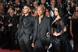 Andreea Sasu, Jeremy Meeks and Adam Abaida Atarshi arriving on the red carpet of 'The Dead Don't Die' screening and opening ceremony held at the Palais Des Festivals in Cannes, France on May 14, 2019 as part of the 72th Cannes Film Festival. Photo by Nicolas Genin/ABACAPRESS.COM