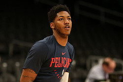February 27, 2019 - Los Angeles, CA, U.S. - LOS ANGELES, CA - FEBRUARY 27: New Orleans Pelicans Guard Elfrid Payton (4) before the New Orleans Pelicans versus Los Angeles Lakers game on February 27, 2019, at Staples Center in Los Angeles, CA. (Photo by Icon Sportswire) (Credit Image: © Icon Sportswire/Icon SMI via ZUMA Press)