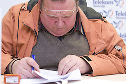 Marjan Stimec when Slovenian athletes and their coaches sign contracts with Athletic federation of Slovenia for year 2009,  in AZS, Ljubljana, Slovenia, on March 2, 2009. (Photo by Vid Ponikvar / Sportida)