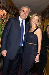 DONALD MACTAGGART and NICKY BAILY-GIBSON at a dinner hosted by Stratis & Maria Hatzistefanis at Annabel's, Berkeley Square, London on 24th March 2006 following the christening of their son earlier in the day.<br /><br />NON EXCLUSIVE - WORLD RIGHTS