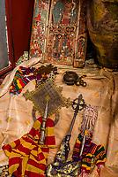 Medieval crosses,  Cave Monastery Neakuto Leab, near Lalibela, Ethiopia.