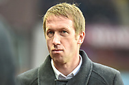 Swansea City manager Graham Potter during the The FA Cup 3rd round match between Aston Villa and Swansea City at Villa Park, Birmingham, England on 5 January 2019.