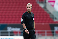 Referee Chris Sarginson in action during the EFL Cup match between Bristol City and Exeter City at Ashton Gate, Bristol, England on 5 September 2020.