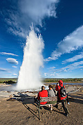 Strokkur. Taken in south-Iceland